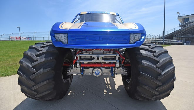 The Bigfoot monster truck is on display at Mansfield Motor Speedway this weekend for the Monster Truck Mania event Saturday, June 16.