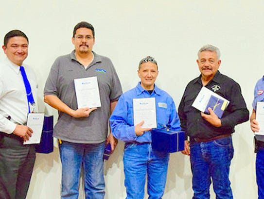 Ten-year awards went to Josh Snodgrass, Lawrence Chavez,