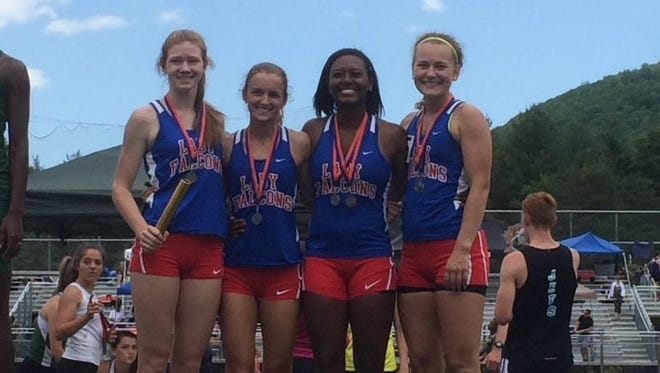 Rylee Dean helped West Henderson come in second in the 400-meter relay (50.92) at Saturday's 3-A Western Regional track meet.