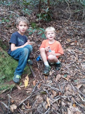 A picture provided by Julie Esposito, the mother of one of the two boys, of where the pair was found.