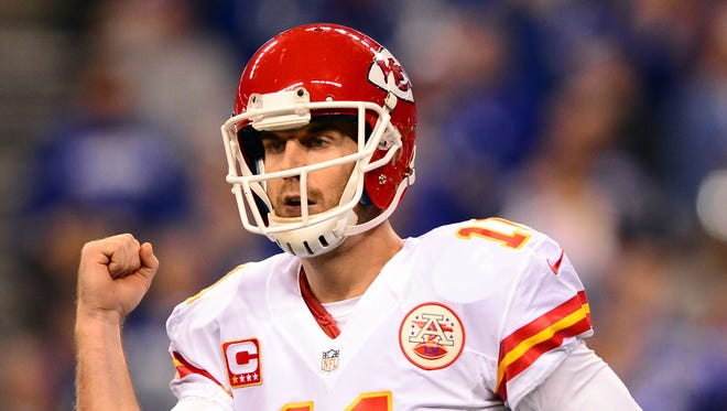 Kansas City Chiefs quarterback Alex Smith set career highs in passing yards (3,313) and touchdowns (23) last season.