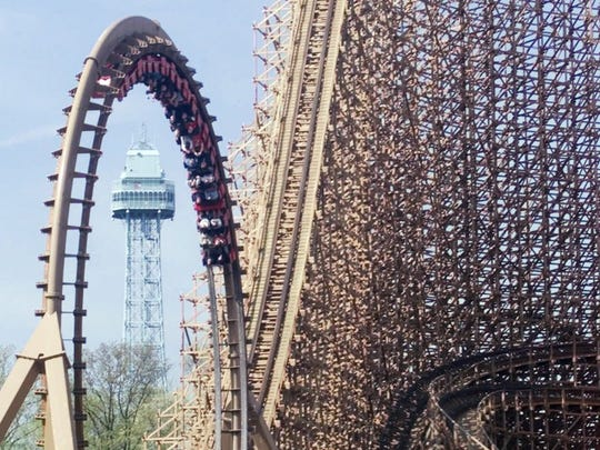 The Beast wooden coaster at Kings Island in Mason, Ohio, will give you that sinking feeling.