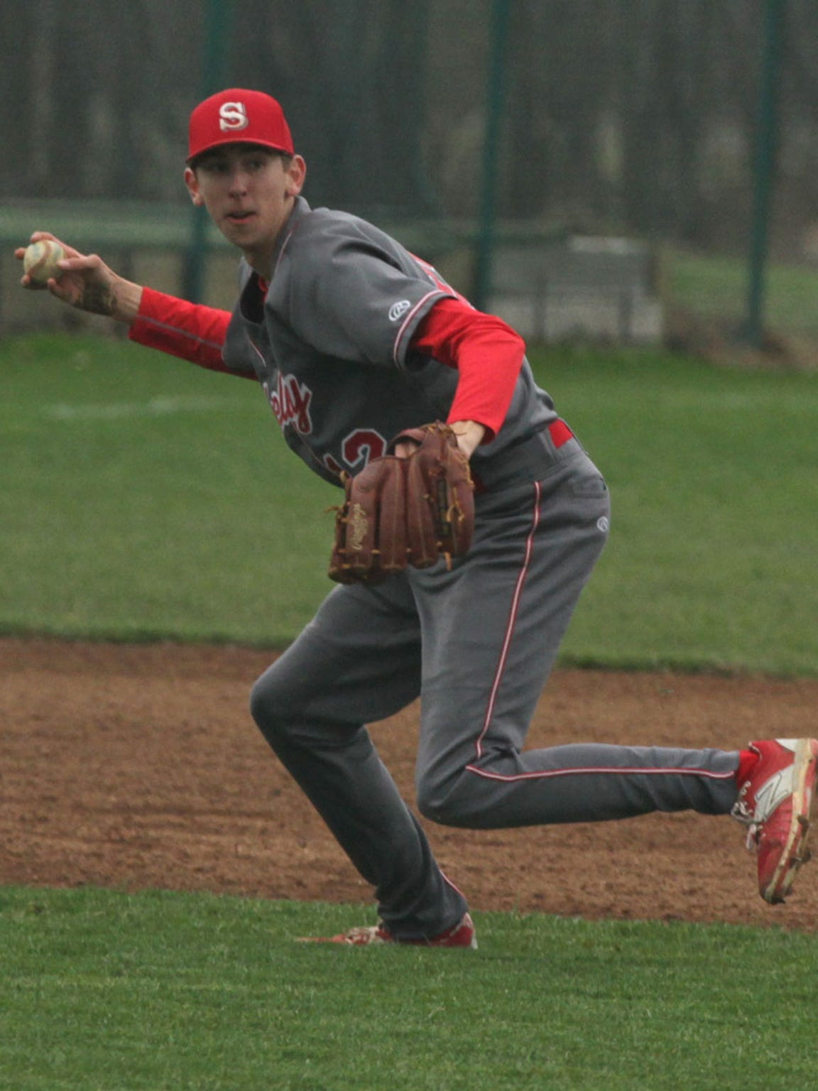Shelby's Hunter Hoffman makes a play during his sophomore season of high school baseball.