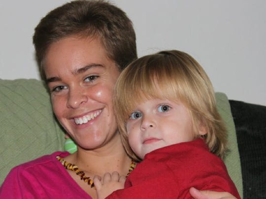 """Lacey Spears and her son, Garnett. When a friend visited Garnett at Maria Fareri Children's Hospital the night before he took a dramatic downturn in late January, his final words to her were """"Don't leave me."""" Now the friend wonders if the five-year-old had a premonition of something dire."""