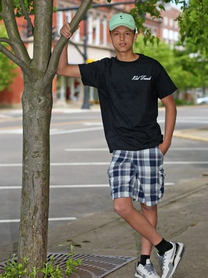Cervera Braxton, 16, has his own YouTube channel, Kid Fresh, with more than 1,500 subscribers.
