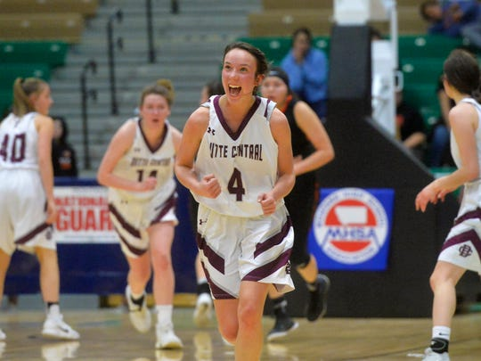 Butte Central's Kloie Thatcher gave Maroon fans much