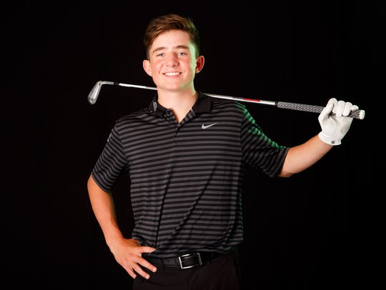 Brandon Eyre, a West Salem freshman, is nominated for boys golfer of the year in the Statesman Journal Mid-Valley Sports Awards. Photographed at the Statesman Journal in Salem on Wednesday, May 2, 2018.