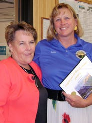 Debbie Goss, right, was named Administrative Employee