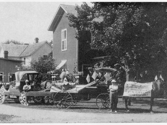 Burkett Lightning Rod Company, 507 Vine Street. The company had already been in business 43 years when this photo was taken in 1913.