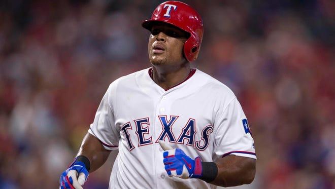 Texas Rangers third baseman Adrian Beltre batted .302 with 32 home runs and 104 RBI this season.