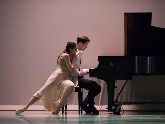 "Christina LaForgia Morse and David Morse are seen in an especially memorable scene from choreographer Johanna Bernstein Wilt's ""The Dance Will Set You Free."" Wilt is the ballet master of Cincinnati Ballet."