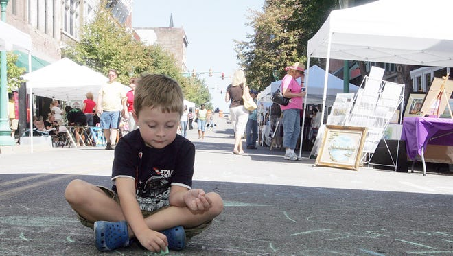 """The 11th Annual Frolic on Franklin: """"A celebration of the Arts"""" takes place this Saturday on historic Franklin Street. More than 30 local artists will set up tents where they will show and share their creations."""