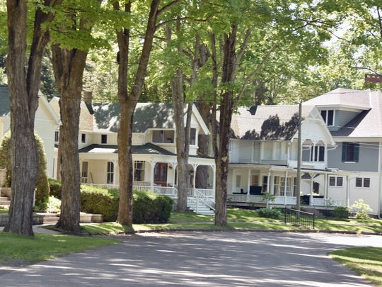Bay View, Michigan, seen here thursday, June 14, 2018, features 440 cottages and 30 community-owned buildings and has been a cultural summer retreat for Methodists since 1875.