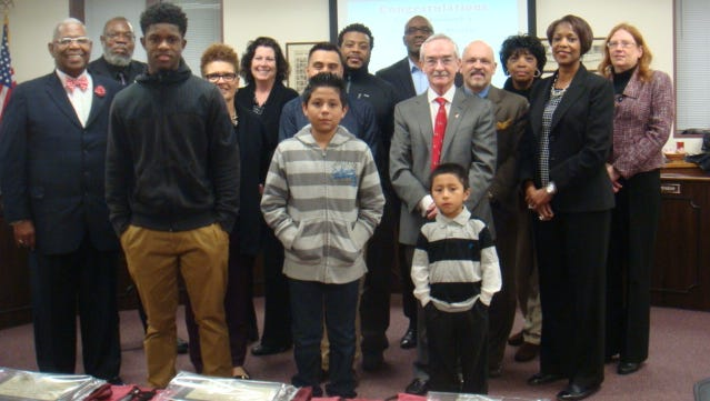 Thomasina Jones, superintendent of Bridgeton Public Schools, honored nine students at the Board of Education meeting in December.