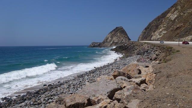 STAR FILE PHOTO Mugu Rock on Pacific Coast Highway.