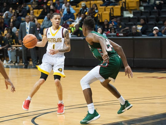 Grambling State's Ivy Smith Jr. led his team with 18 points Saturday.