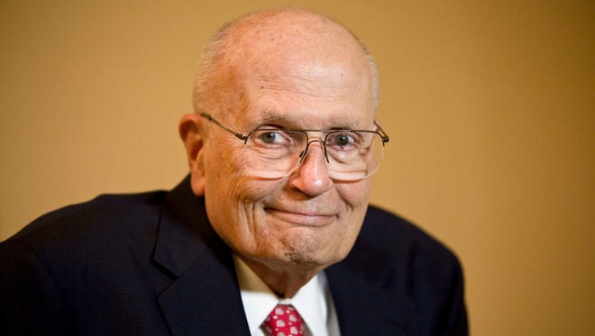 Rep. John Dingell (D-MI) waits to be interviewed on Capitol Hill on Nov. 7, 2009, in Washington, DC.
