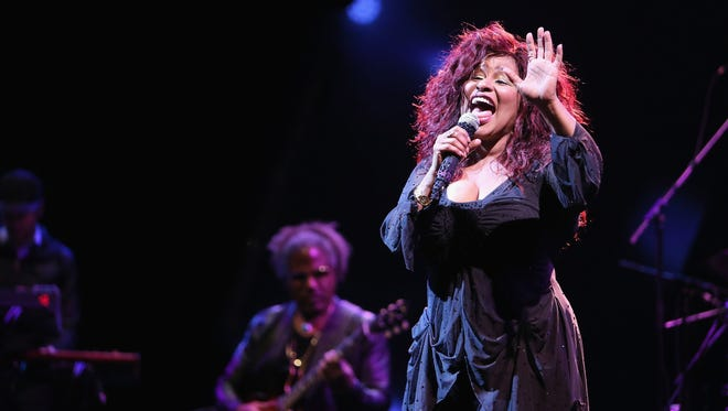 Chaka Khan, seen here in 2015, has announced that she has entered rehab for addiction to painkillers.