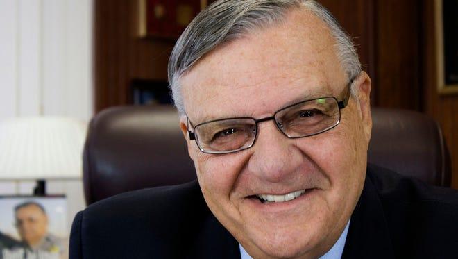 The campaign portrait of former Maricopa County Sheriff Joe Arpaio