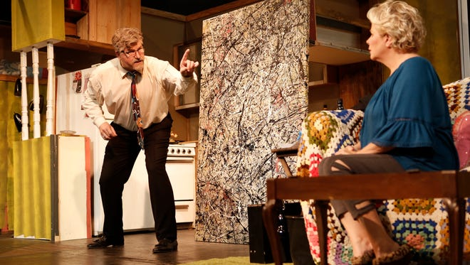 """Paul Sulzman starts as Lionel and Lee Ann Manley stars as Maude in """"Bakersfield Mist,"""" on stage through May 27 at the Ojai Art Center Theater."""