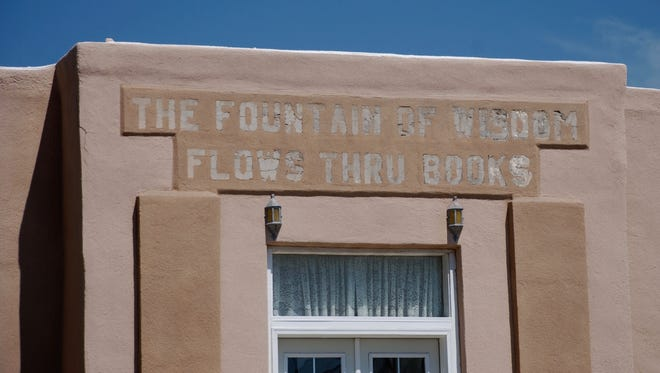 "The book phase, ""The Fountain of Wisdom Flows Thru Books,"" can be seen on a 1937 WPA building near the future CCPL&A site where book lovers will actually be congregating in 2017."