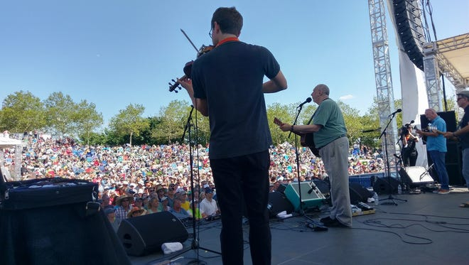Dover's Nate Grower performs in July with the David Bromberg Quintet at the XPoNential Music Festival in Camden, New Jersey.