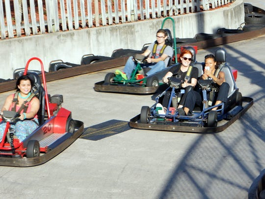 Andretti Thrill Park in Melbourne was highlighted as one of the venues that make living in the area affordable.