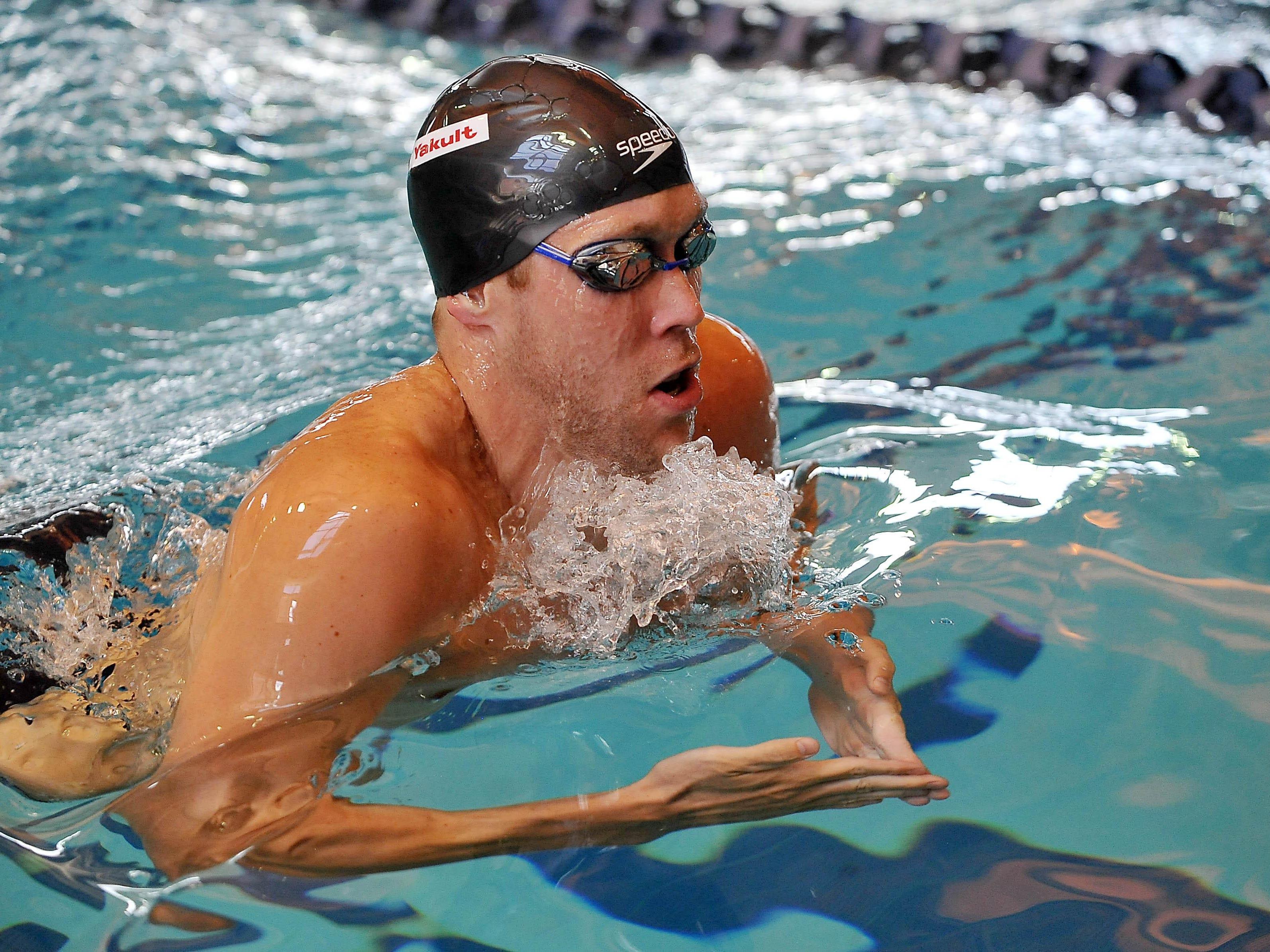 St. Augustine Prep graduate Brendan McHugh trains for the FINA World Swim Championships in Russia in July.