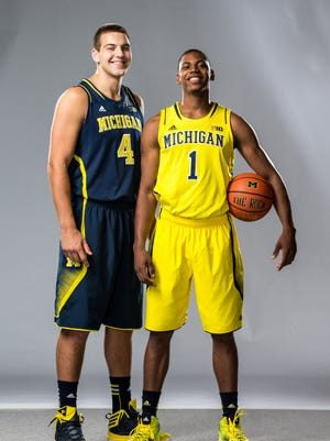 Mitch McGary, left, and Glenn Robinson III return with big expectations as sophomores.
