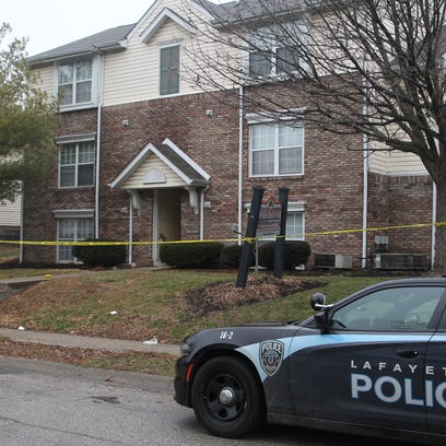 Police responded to a call of a shooting at this apartment