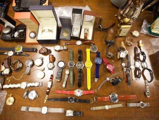 Dozens of watches were among the stolen goods Little