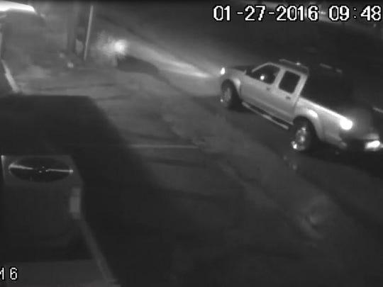 Vehicle of suspect in Cape Coral burglary.