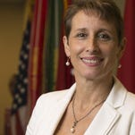 Erin Thede, Director of the Army Reserve Private Public Partnership Office, photographed at Fort Belvoir in Springfield, Va., on Thursday, May 28, 2015. (Mike Morones/Staff)