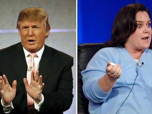 (FILE PHOTO) Donald Trump Vs Rosie O'Donnell