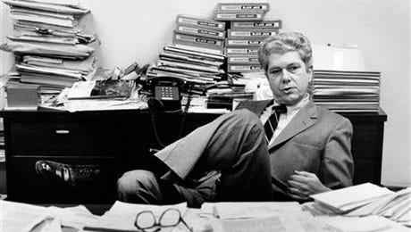 Prosecutor Joe Freeman Britt sits in his office in this 1987 photo.