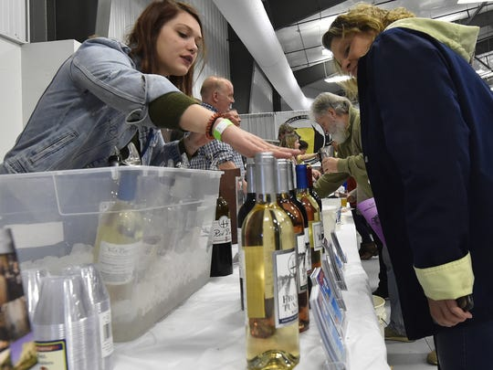 Wine was featured along with craft beer at Roar off