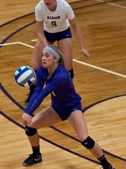 Mercy grad Monica Shuk has helped Albion's volleyball team contend for the MIAA title this fall.