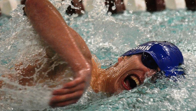 Lakeland's Thomas Antishin won the 100- and 200-yard freestyles, along with swimming a leg on the first-place 200 medley relay.