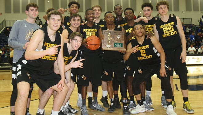 Roger Bacon won its second consecutive Division III regional championship in an instance classic, 70-64, over Summit Country Day on March 18, 2017 at Kettering Fairmont.