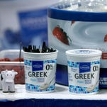 Greek yogurt at the Upstate Farms booth during the Annual New York State School Nutrition Association Conference at the Riverside Convention Center in November.