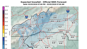 Weekend forecast: Sleet but no snow in Greenville