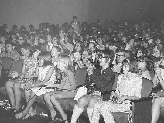 The crowd of mostly teenagers is thrilled to see Sonny and Cher in Abilene in April 1967.