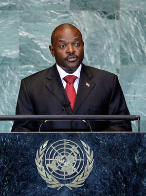 Burundi's President Pierre Nkurunziza addresses the 66th session of the United Nations General Assembly at U.N. headquarters in New York in 2011.
