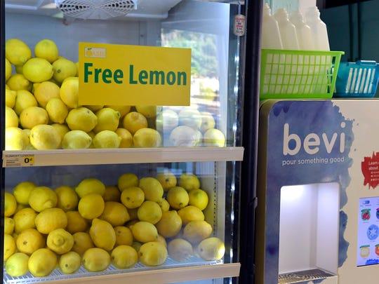 A chiller full of lemons waits to be turned into lemonade
