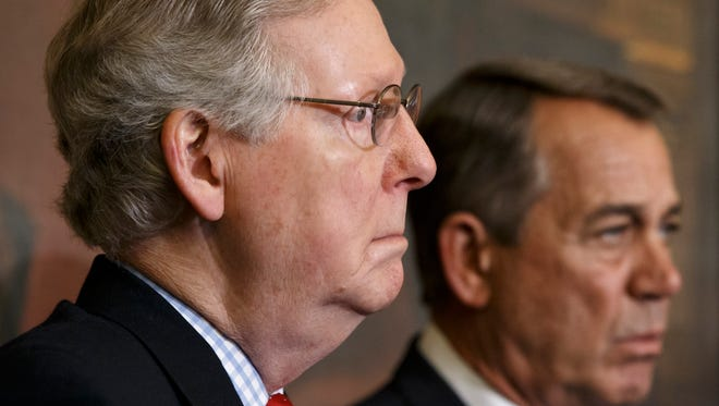 Senate Majority Leader Mitch McConnell, R-Ky., left, and Speaker of the House John Boehner, R-Ohio.