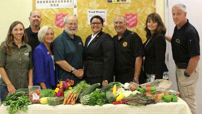 The Somerset County Sheriff's Office recently dropped off a supply of fresh, locally grown produce to the Bound Brook Salvation Army Food Pantry.