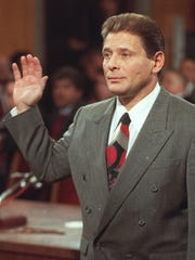 "Gambino family hit man Salvatore ""Sammy Bull"" Gravano, shown in 1993, came to the Phoenix area in the early 1990s after turning on mob boss John Gotti."
