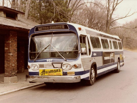 An early Queen City Metro bus.  Courtesy of Metro