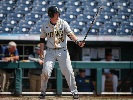 Iowa junior Chris Whelan steps up to the plate against