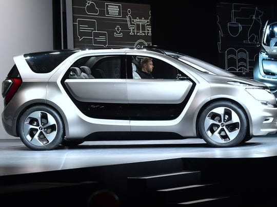 The Fiat Chrysler Portal concept car is unveiled at
